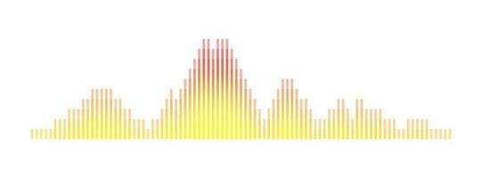 abstrato tecnologia de visualização de ondas sonoras reprodutor de áudio equalizador música e voz conceito de sinal digital led gráfico dj beat ilustração vetorial de estoque vetor