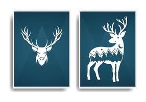 poster abstrato cervo design elegante e luxuoso vetor