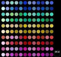 conjunto de lantejoulas coloridas diferentes vetor