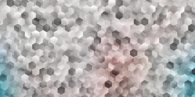 padrão de vetor rosa claro verde com hexágonos.
