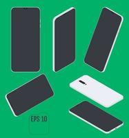 vetor isométrico moderno de telefone inteligente
