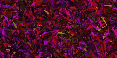 modelo de vetor rosa escuro, amarelo com cristais, triângulos.
