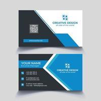 cartão de visita corporativo branding estacionário vetor
