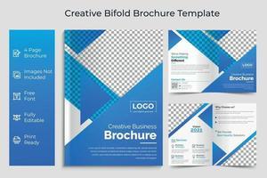 modelo de brochura de dobra bi de negócios design de conceito de negócios corporativos vetor