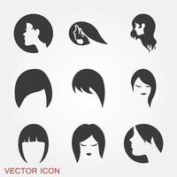 conjunto de ícones de penteado vetor