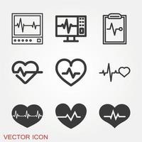 conjunto de ícones de pulsação vetor