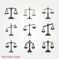 escala conjunto de ícones vetor