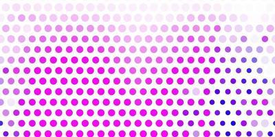 pano de fundo vector roxo, rosa claro com pontos.