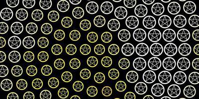 textura vector vermelho e amarelo escuro com símbolos de religião.