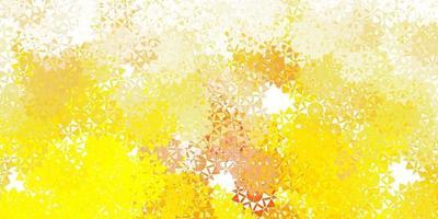 luz amarela vetor lindo cenário de flocos de neve com flores.