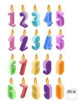vetor isométrico de velas de aniversário