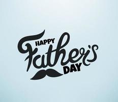 feliz dia dos pais vetor cartão com inscrição de letras