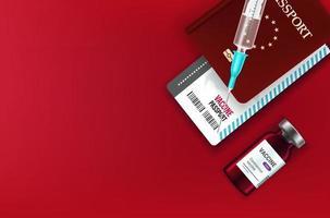 conceito de passaporte de vacinação vetor