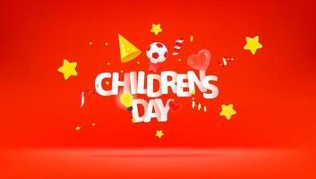 cartão comemorativo do dia internacional da criança vetor