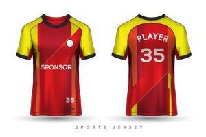 Modelo de design gráfico de maquete de esporte de camiseta e camisa de futebol para kit de futebol vetor
