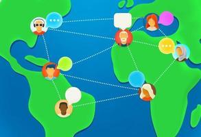 pessoas trabalham juntas via internet vetor