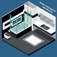 ilustração em vetor composição isométrica banheiro