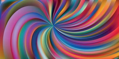 fundo abstrato com redemoinho de várias cores vetor