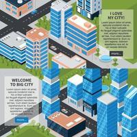 ilustração vetorial de banners horizontais de cidade vetor