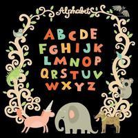 ilustração em vetor alfabeto infantil completo