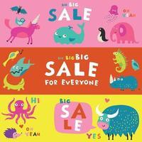 ilustração vetorial de banners do alfabeto infantil vetor