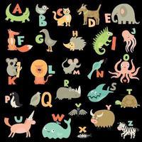 ilustração vetorial conjunto de alfabeto infantil vetor