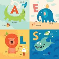 ilustração em vetor conceito alfabeto crianças