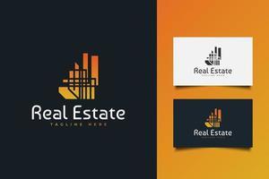 modelo de logotipo de negócios imobiliários vetor