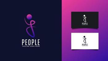 logotipo de pessoas com a letra inicial j para logotipos de empresas ou tecnologia vetor