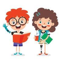 personagens de desenhos animados engraçados usando próteses vetor