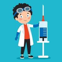 conceito de saúde com vacinação vetor
