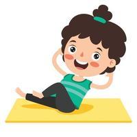 garoto engraçado em pose de ioga vetor