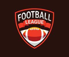 Emblemas de futebol americano vetor