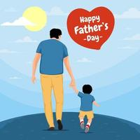 conceito do dia dos pais feliz vetor