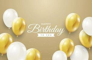 modelo de saudação de feliz aniversário vetor