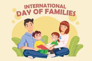 modelo de saudação do dia internacional das famílias vetor