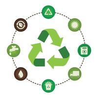 reciclar coleção de conjunto de ícones vetor