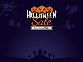 Fundo de venda de Halloween vetor
