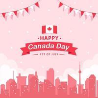conceito de celebração do dia canadense vetor