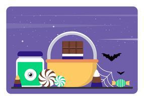 Elementos de vetor de Halloween e acessórios