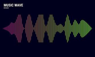 fundo abstrato de música colorido em rosa, amarelo e verde, equalizador de gradações para ilustração vetorial de música vetor
