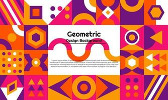 fundo geométrico abstrato com design minimalista vetor