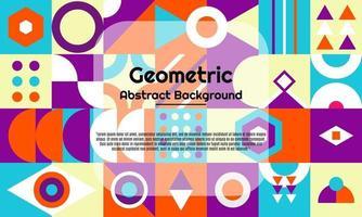 fundo geométrico abstrato com design moderno e minimalista vetor