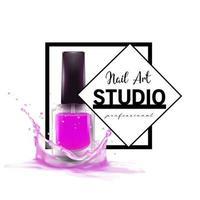 modelo de design de logotipo de estúdio de Nail Art vetor