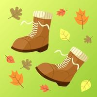 Vetor de botas de outono