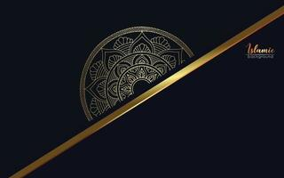 Fundo ornamentado de mandala de ouro de luxo vetor