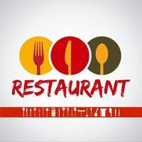 restaurante de logotipo com coleção de conjunto de ícones vetor