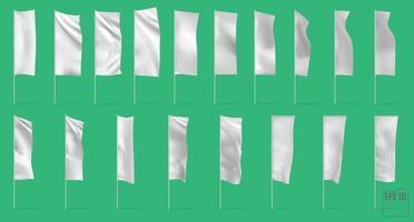 Bandeiras e banners em branco de propaganda vetor