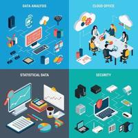ilustração em vetor conceito design big data 2x2