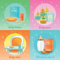 ilustração em vetor conceito design comida para bebê